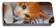 Gorgeous Blue Eyes Portable Battery Charger