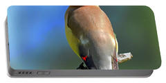 Portable Battery Charger featuring the photograph Gorgeous Cedar Waxwing by Rodney Campbell