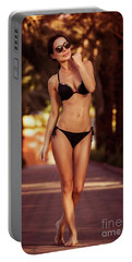 Gorgeous Female On The Beach Portable Battery Charger