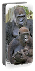 Gorilla Family Portrait Portable Battery Charger