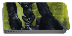 Gorilla Playing With Baby Portable Battery Charger