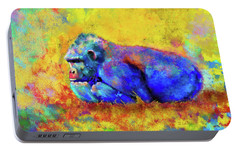 Portable Battery Charger featuring the photograph Gorilla by Test