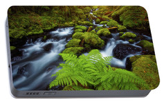 Portable Battery Charger featuring the photograph Gorton Creek Fern by Darren White