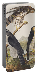 Goshawk And Stanley Hawk Portable Battery Charger by John James Audubon