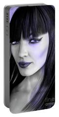 Goth Portrait Purple Portable Battery Charger