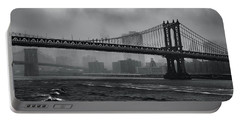 Manhattan Bridge In A Storm Portable Battery Charger