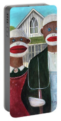 Gothic American Sock Monkeys Portable Battery Charger