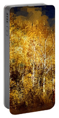Gothic Aspen Trees Portable Battery Charger