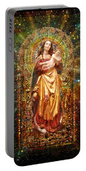 Gothic Madonna And The Child Portable Battery Charger by Ananda Vdovic