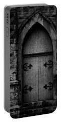 Gothic Door Memphis Church Bw Portable Battery Charger