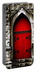 Gothic Red Door Memphis Church Portable Battery Charger