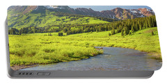Gothic Valley - Early Evening Portable Battery Charger by Eric Glaser