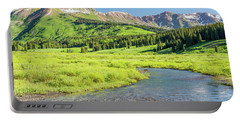 Portable Battery Charger featuring the photograph Gothic Valley - Morning by Eric Glaser