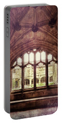 Portable Battery Charger featuring the photograph Gothic Window by Jill Battaglia