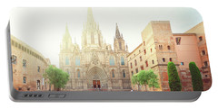 Gotic Cathedral  Of Barcelona Portable Battery Charger