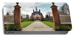 Portable Battery Charger featuring the photograph Governor's Palace In Williamsburg, Virginia by Nicole Lloyd