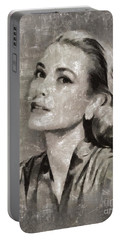 Grace Kelly By Mary Bassett Portable Battery Charger