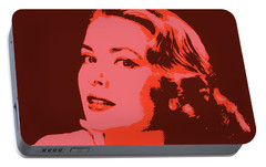 Grace Kelly Pop Art Portable Battery Charger by Dan Sproul