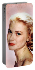Grace Kelly, Vintage Actress Portable Battery Charger