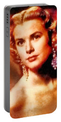 Grace Kelly, Vintage Hollywood Actress Portable Battery Charger by Frank Falcon