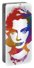 Grace Kelly Watercolor Portable Battery Charger
