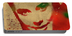 Grace Kelly Watercolor Portrait Portable Battery Charger