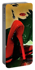 Grace With Red High Heels Portable Battery Charger