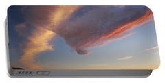 Graceful Pink Clouds Portable Battery Charger