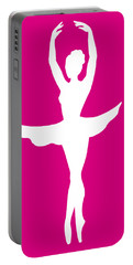 Graceful Silhouette Of Dancing Ballerina Portable Battery Charger