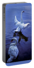 Graceful Swans Portable Battery Charger by Marie Hicks