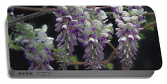 Graceful Wisteria Portable Battery Charger by Bonnie Willis