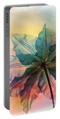 Portable Battery Charger featuring the digital art Gracefulness by Klara Acel