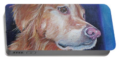 Portable Battery Charger featuring the painting Gracie by Susan DeLain