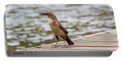 Grackle On A Dock Portable Battery Charger