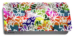 Portable Battery Charger featuring the mixed media Graffiti Garden 2- Art By Linda Woods by Linda Woods