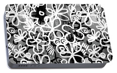 Portable Battery Charger featuring the mixed media Graffiti Garden - Art By Linda Woods by Linda Woods