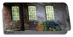 Graffiti On The Walls Of An Old Factory  Portable Battery Charger