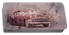 Portable Battery Charger featuring the photograph Graffiti Merc by Joel Witmeyer