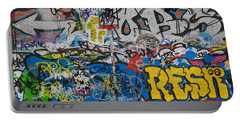 Grafitti On The U2 Wall, Windmill Lane Portable Battery Charger by Panoramic Images