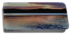 Portable Battery Charger featuring the painting Graham Lake by Kenneth M Kirsch