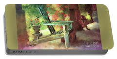 Portable Battery Charger featuring the digital art Gramma's Front Porch by Lois Bryan