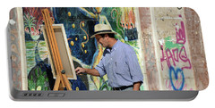 Portable Battery Charger featuring the photograph Granada Painter by Harvey Barrison