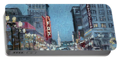 Grand Boulevard At Night, St.louis Portable Battery Charger
