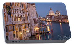 Portable Battery Charger featuring the photograph Grand Canal Twilight by Brian Jannsen