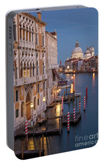 Portable Battery Charger featuring the photograph Grand Canal Twilight II by Brian Jannsen