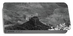 Portable Battery Charger featuring the photograph Grand Canyon 4 In Black And White by Debby Pueschel