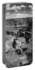 Grand Canyon Bw Portable Battery Charger by RicardMN Photography
