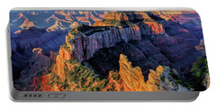 Portable Battery Charger featuring the painting Grand Canyon Cape Royal by Christopher Arndt