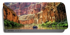 Portable Battery Charger featuring the painting Grand Canyon Colorado River Rafting by Christopher Arndt