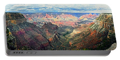 Portable Battery Charger featuring the digital art Grand Canyon by Kai Saarto